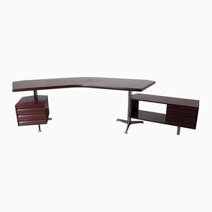 Italian Executive Desk by Osvaldo Borsani for Tecno, 1950s
