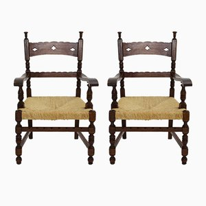 Armchairs, 1920s, Set of 2
