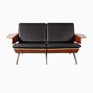 Divano a due posti modello FM50 in pelle di Cornelis Zitman per Pastoe, anni '60