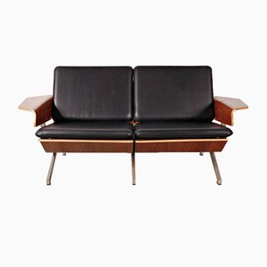 Model FM50 Two-Seat Leather Sofa by Cornelis Zitman for Pastoe, 1960s