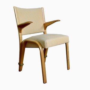 Bow Wood Armlehnstuhl von Wilhelm Von Bode für Steiner, 1950er