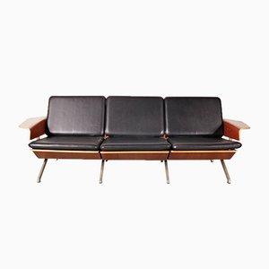 Sofá de cuero de 3 plazas de Cornelis Zitman para Pastoe, 1964