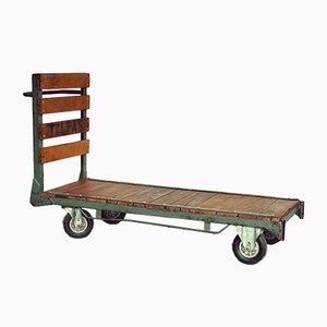 Chariot Vintage en Chêne et Fer
