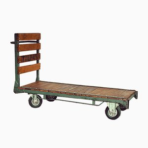 Vintage Oak & Iron Trolley