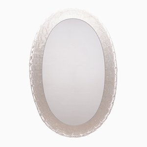 Miroir Vintage en Verre Givré avec rétro-Éclairage de Hillebrand