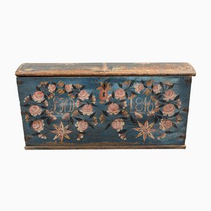 Antique Swedish Wedding Chest, 1846