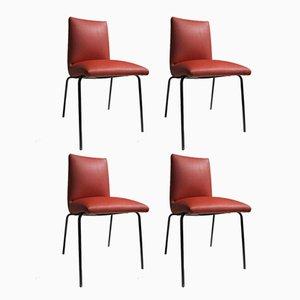 Chaises en Similicuir par Pierre Guariche pour Meurop, 1960s, Set de 4