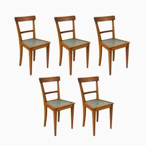 Französische Bistro Stühle, 1950er, 5er Set