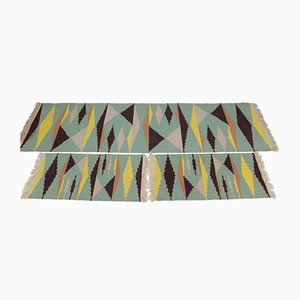 Mid-Century Modernist Geometric Carpets, Set of 3
