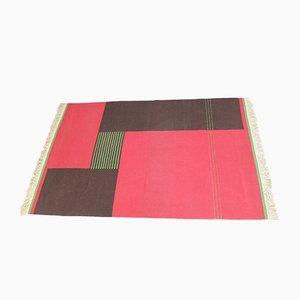 Mid-Century Czechoslovakian Geometric Modernist Carpet