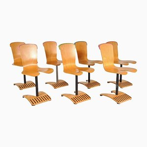 Chaises Empilables par Ruud Jan Kokke, 1980s, Set de 7