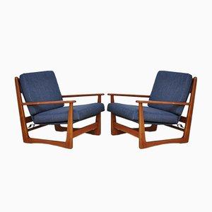 Dänische Mid-Century Teak Sessel, 1960er, 2er Set