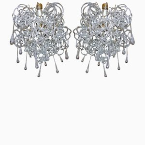 Vintage Sconces by René Roubíček for Kamenický Šenov, Set of 2