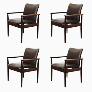 Model 209 Armchairs by Finn Juhl for France & Søn, 1960s, Set of 4