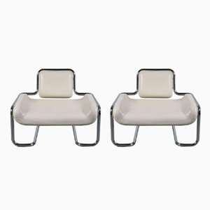 Limande Chairs by Kwok Hoi Chan for Steiner, 1971, Set of 2