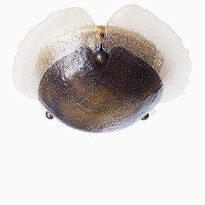 Bernsteinfarbene Deckenlampe aus Muranoglas von Peill & Putzler, 1960er