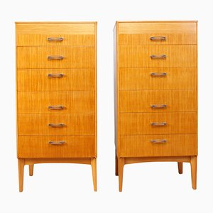 Mid-Century Tall Chest of Drawers, Set of 2