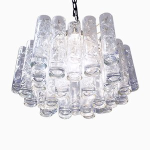 Murano Glass Tubular Pendant Lamp from Doria Leuchten, 1960s