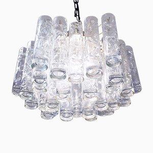 Murano Glass Tubular Pendant Lamp from Doria Leuchten, 1960s