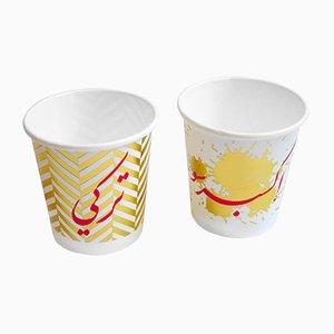 Gobelets Espresso et Terkeh en Papier par Rana Salam Studio, 2018, Set de 2