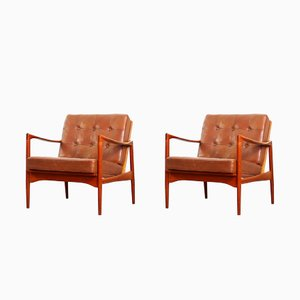Lounge Chairs by Ib Kofod Larsen for OPE, 1960s, Set of 2