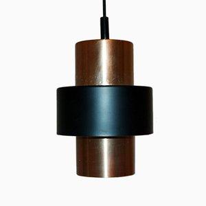Lámpara colgante en color cobre, años 60