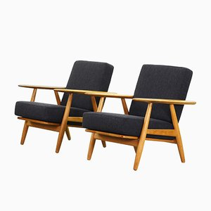 240 Cigar Lounge Chairs by Hans J. Wegner for Getama, 1960s, Set of 2