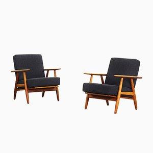 240 B Cigar Sessel von Hans J. Wegner für Getama, 1960er, 2er Set