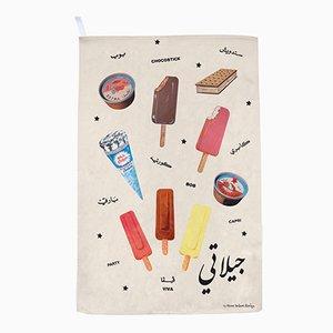 Gilati Ice Creams! Geschirrtuch von Rana Salam