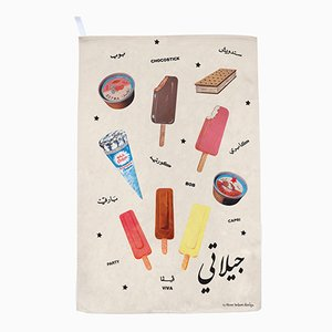 Gilati Ice Creams! Tea Towel by Rana Salam