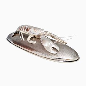 Italian Silver-Plated Lobster Serving Platter by Franco Lagini for Franco Lafini, 1970s
