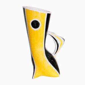 Bemalte Vase aus Porzellan von Janos Torok für Zsolnay, 1960er