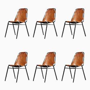 Les Arc Stühle von Charlotte Perriand für Cassina, 1960er, 6er Set