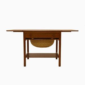 Mesa de costura PP33 vintage de teca de Hans J. Wegner para PP Møbler