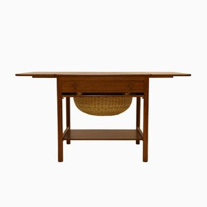 Vintage PP33 Sewing Table in Teak by Hans J. Wegner for PP Møbler