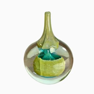 Vaso vintage in vetro di Mdina, anni '60