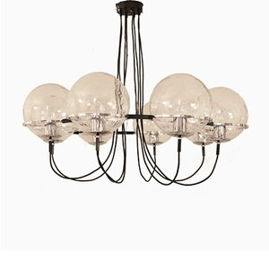 Large Dutch Saturnus Chandelier by Raak Amsterdam for Raak, 1960