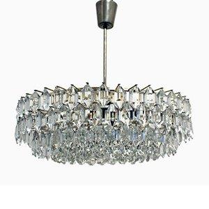 Lámpara de araña con cristales de Swarovsky, años 60