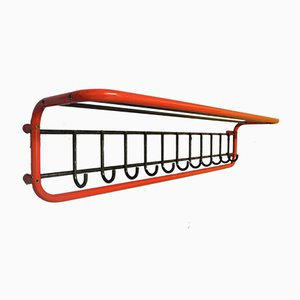 Large Metal Red & Black Coat Rack, 1980s