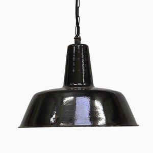 Lámpara colgante industrial Mid-Century, años 50