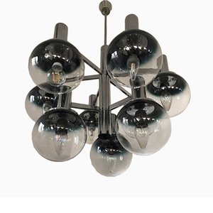 Italian Space Age Chandelier from Targetti Sankey, 1970s