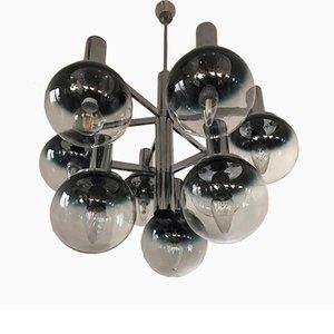 Lámpara de araña italiana era espacial de Targetti Sankey, años 70