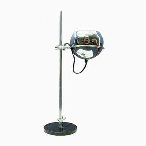 Lámpara de mesa de arquitecto de cromo y plexiglás, años 60