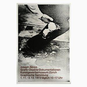 Litografía de póster para una exposición de Joseph Beuys, 1973