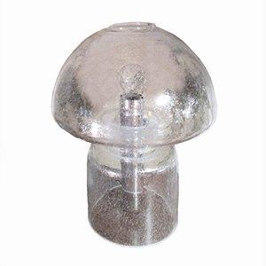 Lampada da tavolo grande vintage in vetro con bolle di Doria