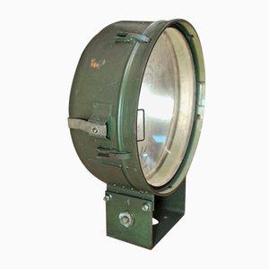 Lampe Projecteur Militaire en Métal et Verre, 1960s