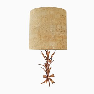 Mid-Century French Table Lamp in Coppered Steel, 1970s