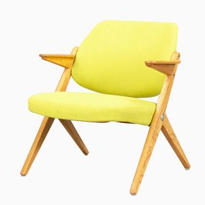 Armchair in Teak and Yellow Fabric by Bengt Ruda for Nordiska Kompaiet, 1962