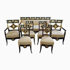 Antikes Wohnzimmer Set von Josef Ulrich Danhauser für Danhauser Möbelfabrik