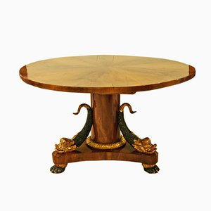 Antique Oval Salon Table from Wiener Werkstatt